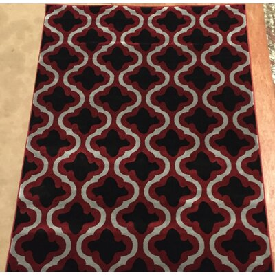 Liza Red Area Rug Rug Size: 710 x 102