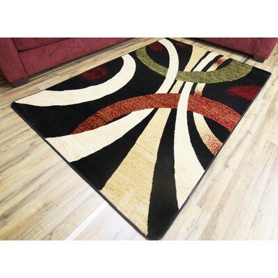 Sevyn Black Area Rug Rug Size: 5 x 7
