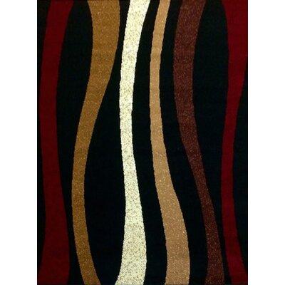 Sevyn Black Area Rug Rug Size: 5' x 7'
