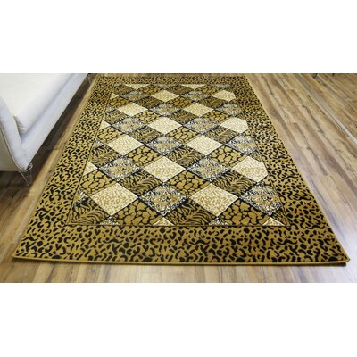 Elif/Passion Gold Area Rug Rug Size: 7'10