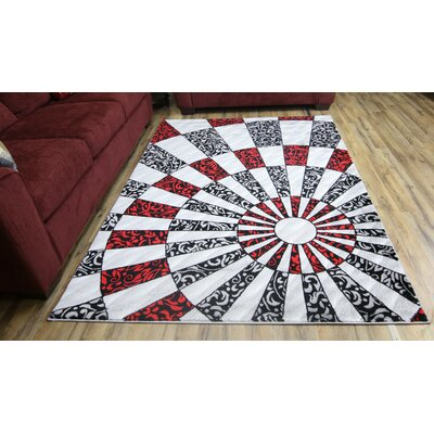 Elif/Passion Silver Area Rug Rug Size: 53 x 73