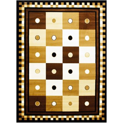 Super Mega Beige/Yellow Area Rug Rug Size: 5'3'' x 7'3''