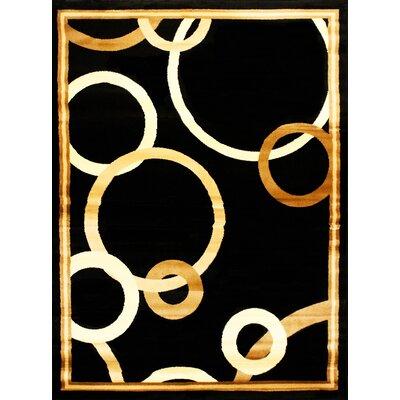 Elif/Passion Black/Beige Area Rug Rug Size: 710 x 102