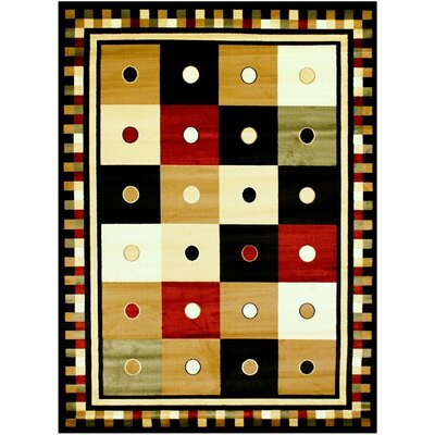 Super Mega Black Area Rug Rug Size: 53 x 73