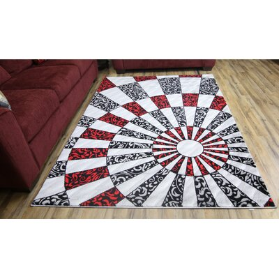 Elif/Passion Silver Area Rug Rug Size: 7'10