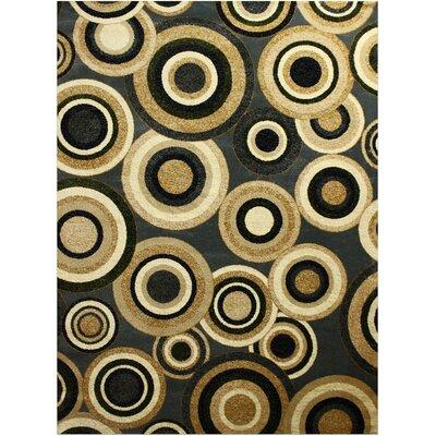 Elif/Passion Black/Beige Area Rug Rug Size: 53 x 73
