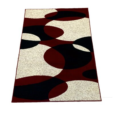Sevyn Red Area Rug Rug Size: 5 x 7