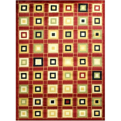 Super Mega Red Area Rug Rug Size: 5'3