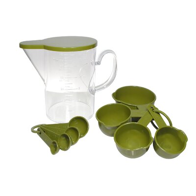 10 Piece Acrylic Plastic Measuring Cup and Spoon Set 89701-GN