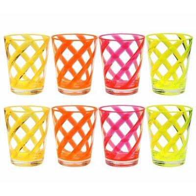 Southdown Stripes 16 oz. Plastic Every Day Glass