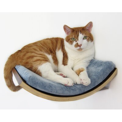 5 Curve Wall Mounted Cat Perch Color: Blue