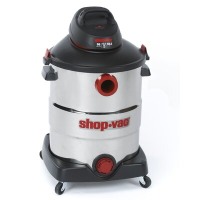 Shop-Vac&#174 Stainless Steel  Series 16 Gallon 6.5 Peak HP Wet / Dry Vacuum at Sears.com