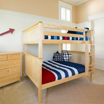 Bunk Bed Size: Full over Full, Finish: Natural