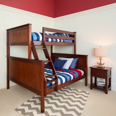 Bunk Bed Finish: Dark Cherry, Size: Twin over Full