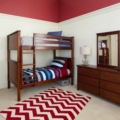 Bunk Bed Finish: Dark Cherry, Size: Twin over Twin