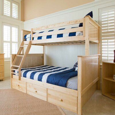 Bunk Bed with 3 Storage Drawer Finish: Natural, Size: Twin over Full