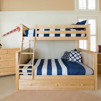 Bunk Bed with Trundle Storage Finish: Natural, Size: Twin over Full