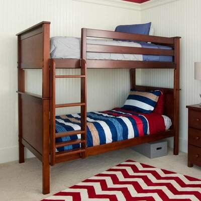 Bunk Bed Finish: White, Size: Twin over Full