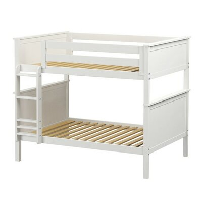 Bunk Bed Size: Full over Full, Finish: White