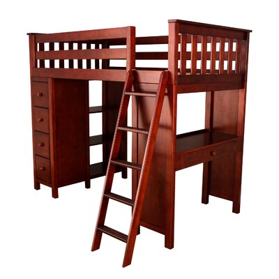 Ayres Twin Loft Bed with Drawers Color: Cherry