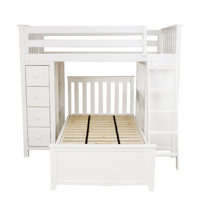 All-in-One Twin Standard Bed with Twin Bed Finish: White