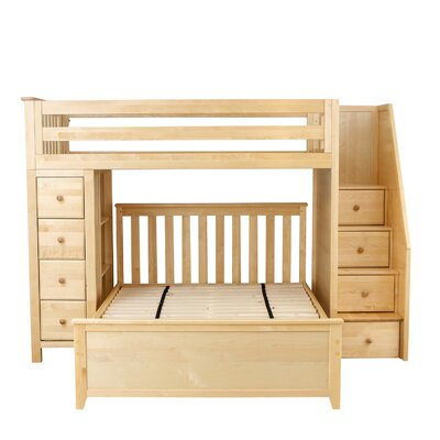 All-in-One Standard Full Bed with Staircase Finish: Natual