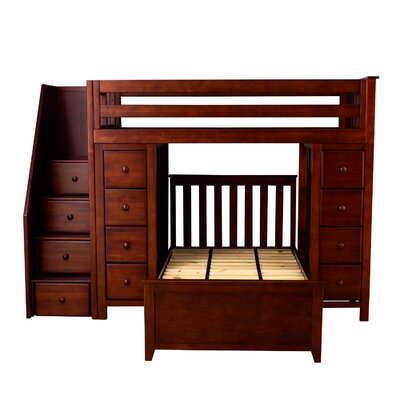 All-in-One StandardTwin Bed with Staircase Finish: Cherry