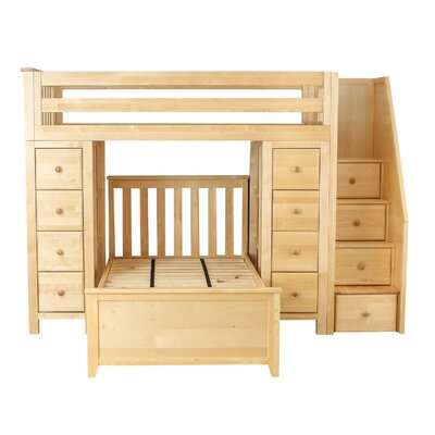 All-in-One StandardTwin Bed with Staircase Finish: Natual