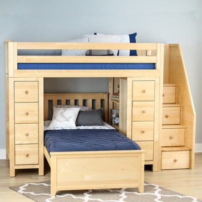 Ayres Twin Standard Bed with Staircase Color: Natual