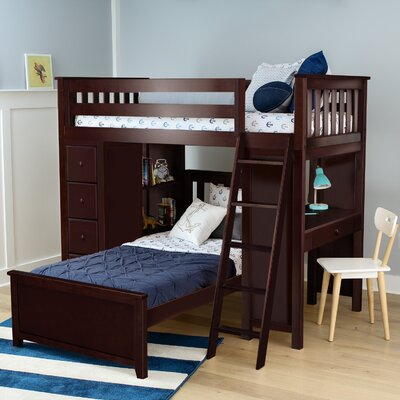 Ayres Twin Standard Bed with Drawers Color: Espresso