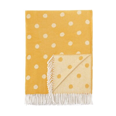 London Throw Blanket Color: Yellow