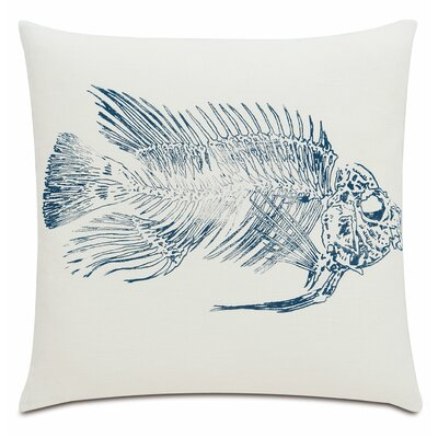 Nautical Snapper Linen Throw Pillow Color: Blue