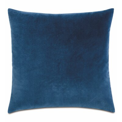 Plush Cotton Throw Pillow Color: Blue