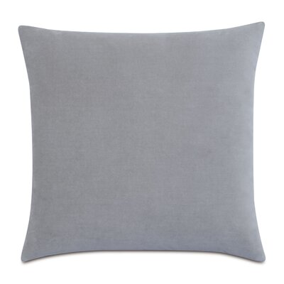 Plush Cotton Throw Pillow Color: Gray