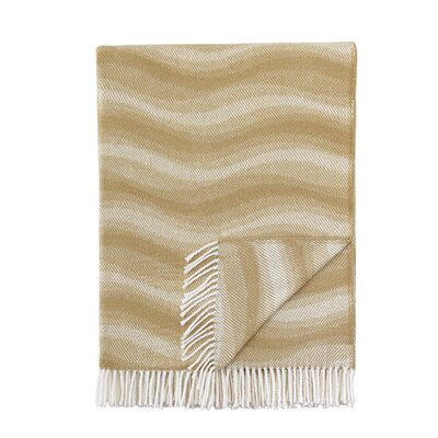 London Throw Blanket Color: Tan