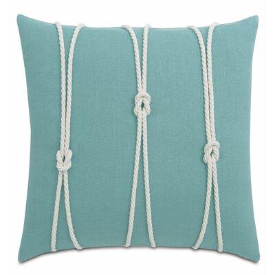 Yacht Knots Linen Throw Pillow Color: Aqua
