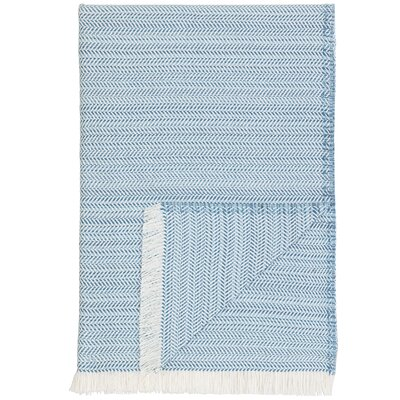 London Throw Blanket Color: Light Blue