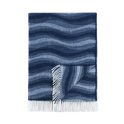 London Throw Blanket Color: Navy