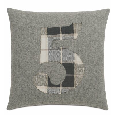 Digits 5 Cotton Throw Pillow