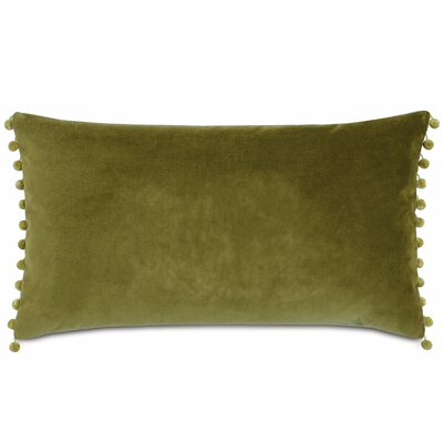 Plush Frou Frou Cotton Lumbar Pillow Color: Citron
