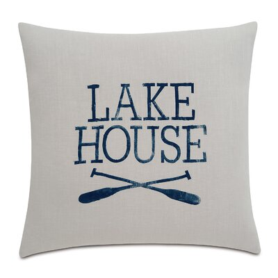 Sail Away Lake Living Linen Throw Pillow