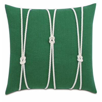Yacht Knots Linen Throw Pillow Color: Kelly Green