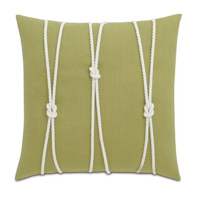 Yacht Knots Linen Throw Pillow Color: Light Green