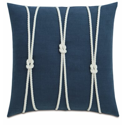 Yacht Knots Linen Throw Pillow Color: Blue