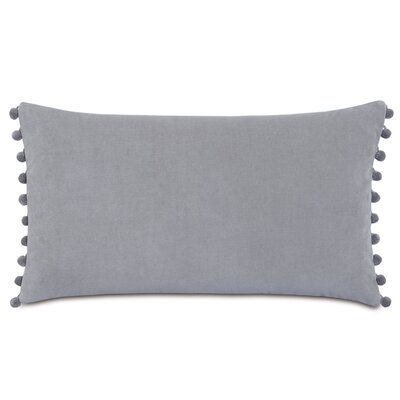 Plush Frou Frou Cotton Lumbar Pillow Color: Gray
