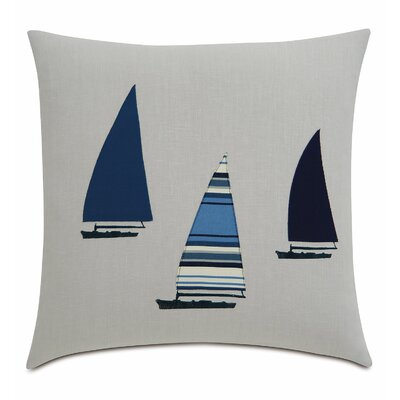 Sail Away 3 Sailboats Linen Throw Pillow