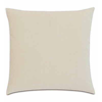 Plush Cotton Throw Pillow Color: Ivory