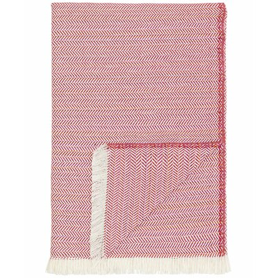 London Throw Blanket Color: Red