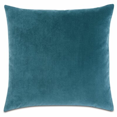 Plush Cotton Throw Pillow Color: Teal