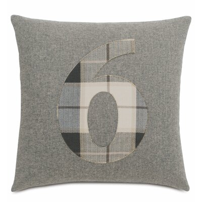 Digits 6 Cotton Throw Pillow